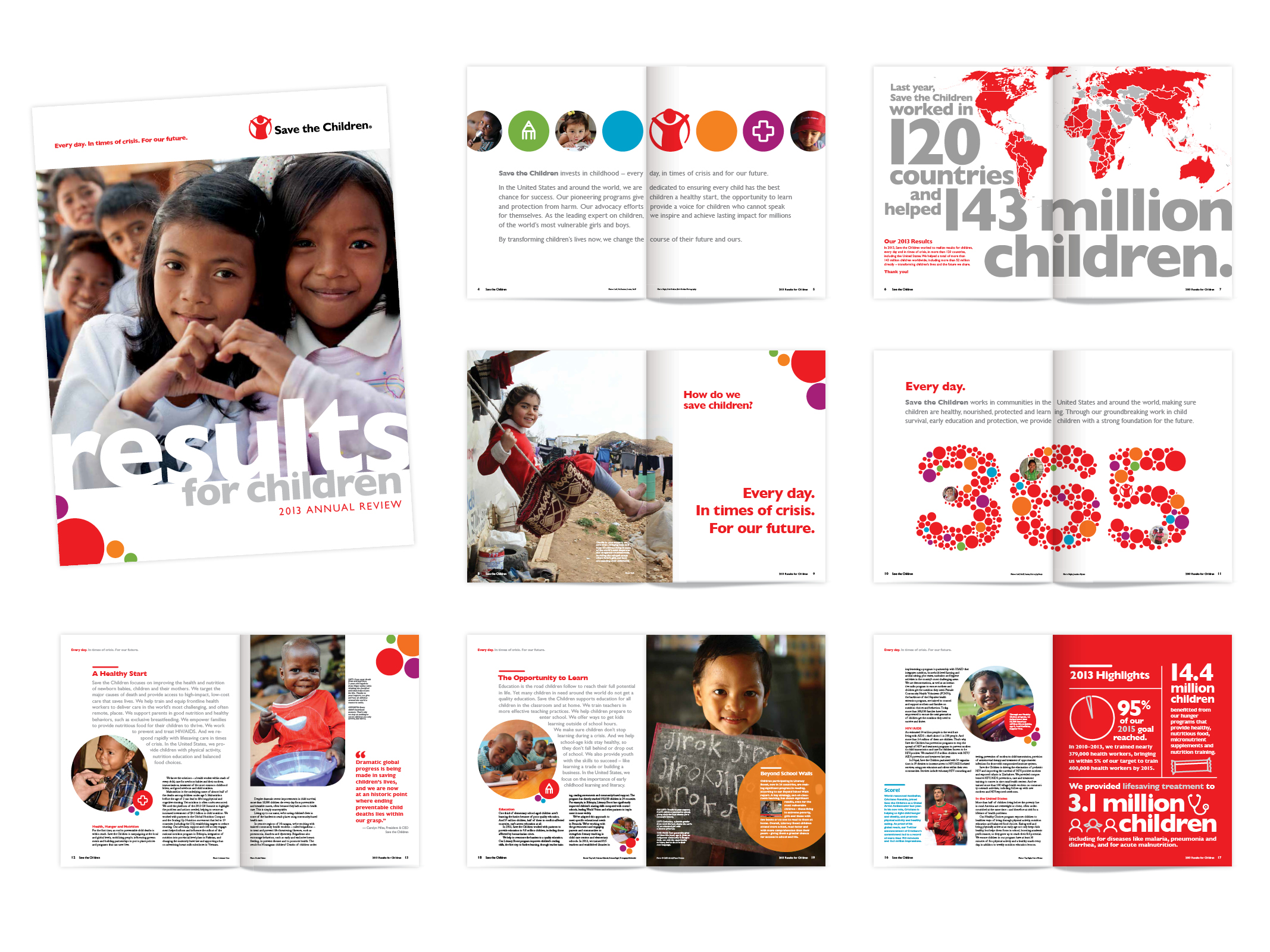 Save The Children Annual Report Mad Amp Ad